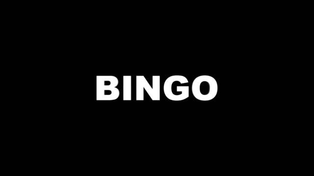 BINGO error texto animación, Renderización, Fondo, con canal Alpha, lazo - vídeo