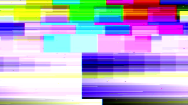 fernseher mit sound-glitch - technology videos stock-videos und b-roll-filmmaterial