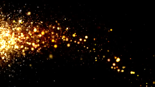 Glitter Particles Gold Drifting video