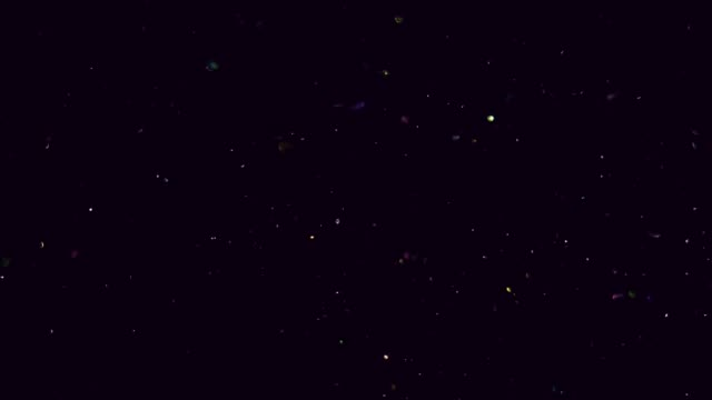 Glitter tiny white particles moving slowly in the space like stars or fireflies. Abstract space glitter black background slow motion 4K, video. sequin stock videos & royalty-free footage