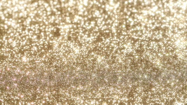 Glittering background with moving stars video