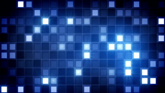 glittering blue squares loopable background video