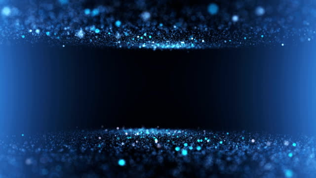 Glittering particles waterfall video blue background Gentle shimmering ice particles in 4K UHD video loop animation. blue background stock videos & royalty-free footage