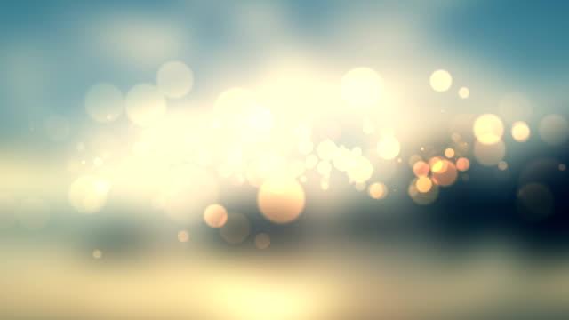 輝く星空の背景とボケビデオ ビデオ