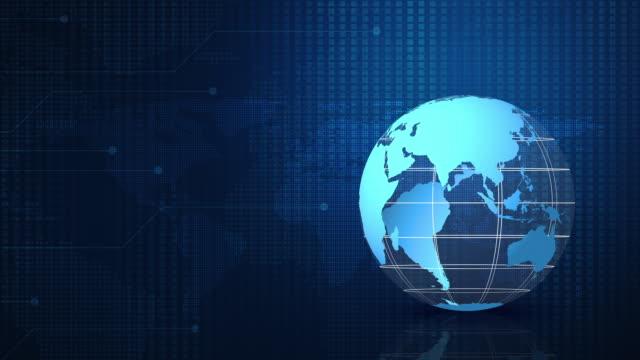 vidéos et rushes de concept d'entreprise global, éléments de cette image fourni par la nasa - image teintée