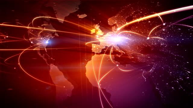 Global business network. Loop video