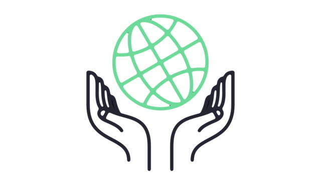 Global Charity Line Icon Animation