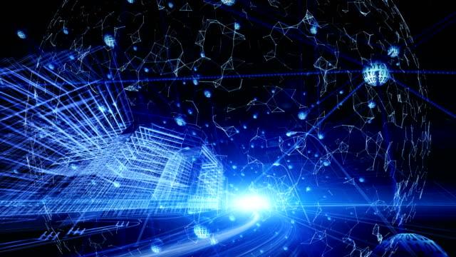 globale kommunikation und stadt-netzwerk-konzept - smart city stock-videos und b-roll-filmmaterial