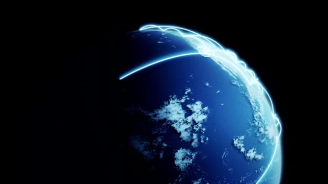 globalnej komunikacji-loopable - położenie filmów i materiałów b-roll