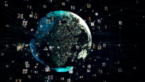 metafora della comunicazione globale - network video stock e b–roll