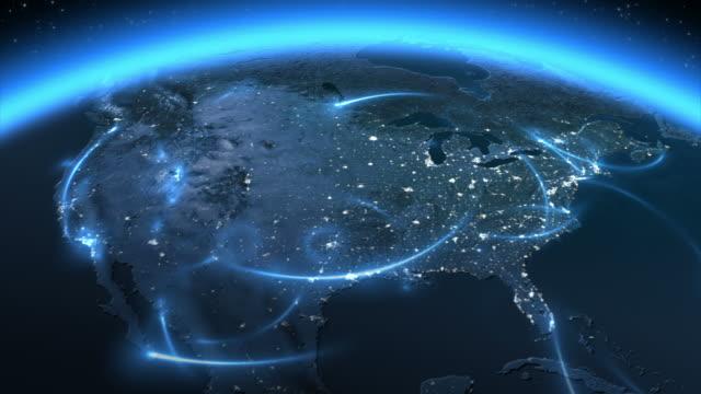 Global communications. America. video