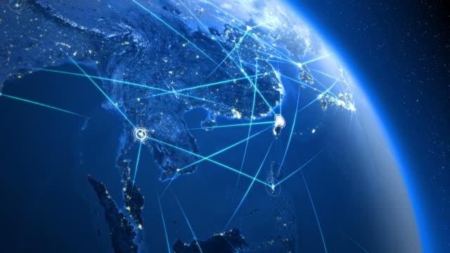 stockvideo's en b-roll-footage met global communications. asia. - oost azië
