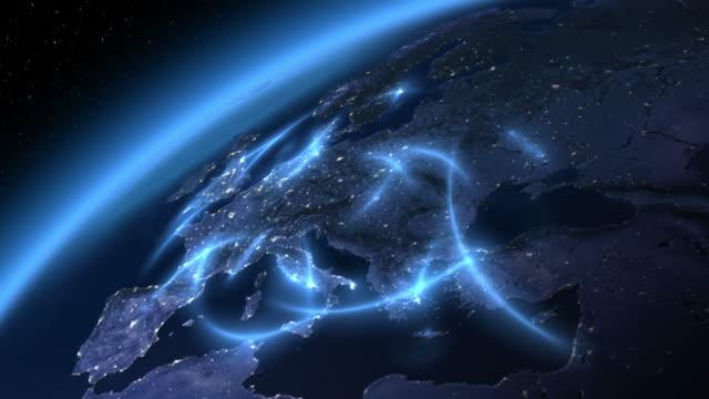 Global communications. Europe. video
