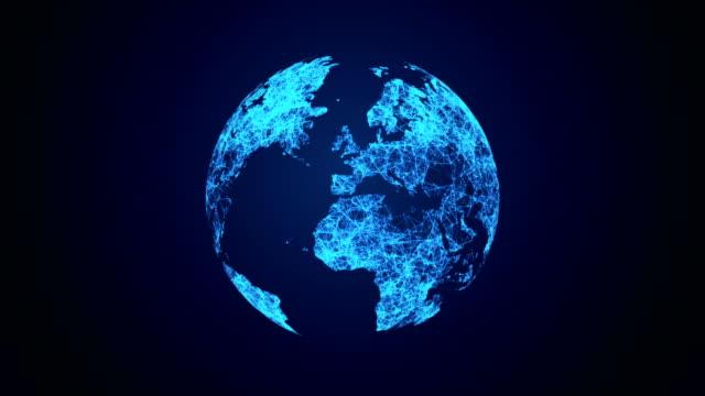 宇宙からグローバル通信ネットワーク - 地球のビデオ点の映像素材/bロール