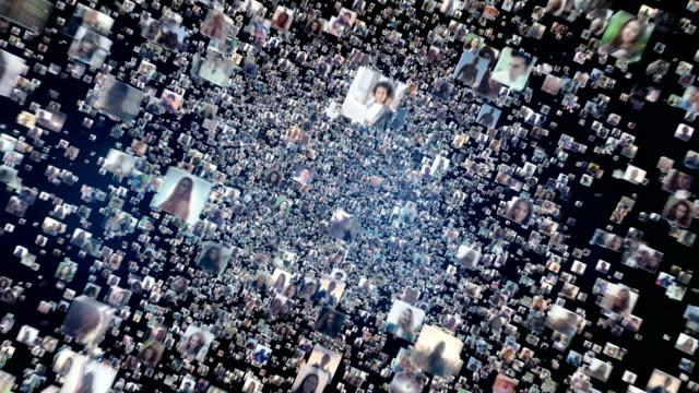 Global communications online. Social media profiles Social media metaphor. People's portraits. composite image stock videos & royalty-free footage