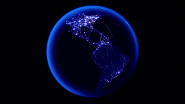Global communications through the global network of connections.