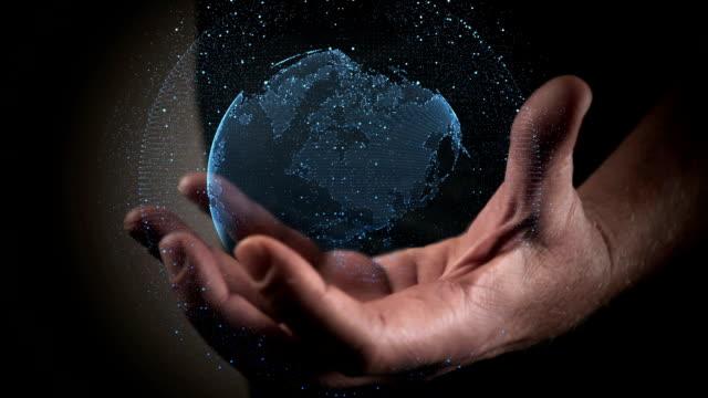 global communications - hologram filmów i materiałów b-roll