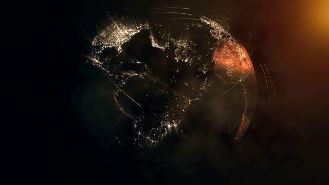 global concept - earth from space bildbanksvideor och videomaterial från bakom kulisserna