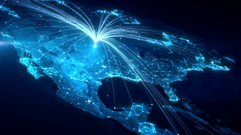 Global Connections Lines connecting countries all over the world. global communications stock videos & royalty-free footage