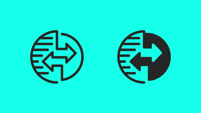 Global Data Transfer Icons - Vector Animate
