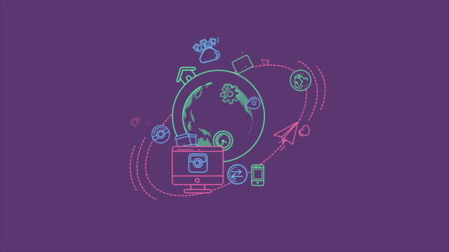 Global Digital World Infographic