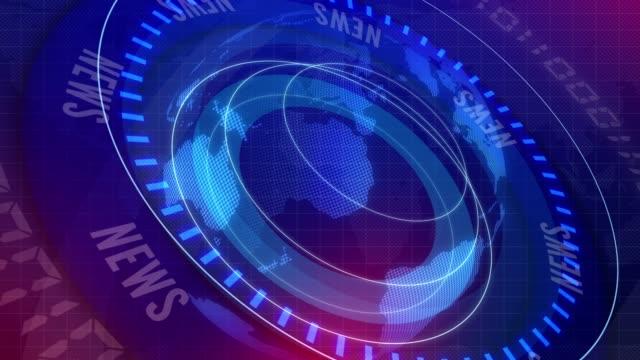 globala jorden rotera digitala världen nyheter studio bakgrund för att bryta nyheter - jorden nyheter bildbanksvideor och videomaterial från bakom kulisserna