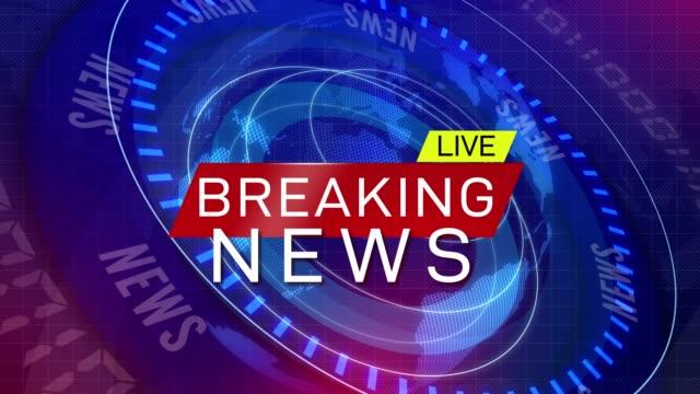 global earth rotating Digital World News Studio Background for breaking news