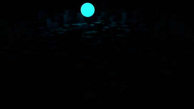Küresel ışıklı ışık topu kare bloklar video