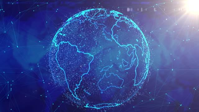 グローバル ネットワークの概念。 - 鎖の輪点の映像素材/bロール