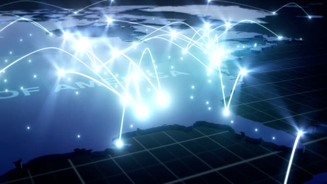 Global Network Connections USA V1 (With Text) Global Network Connections USA V1 (With Text) map videos stock videos & royalty-free footage