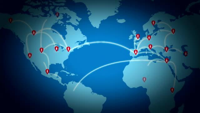 vidéos et rushes de réseau global - épingle