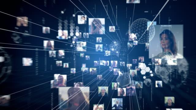 vidéos et rushes de réseaumondial. connexions de thread - image composite numérique