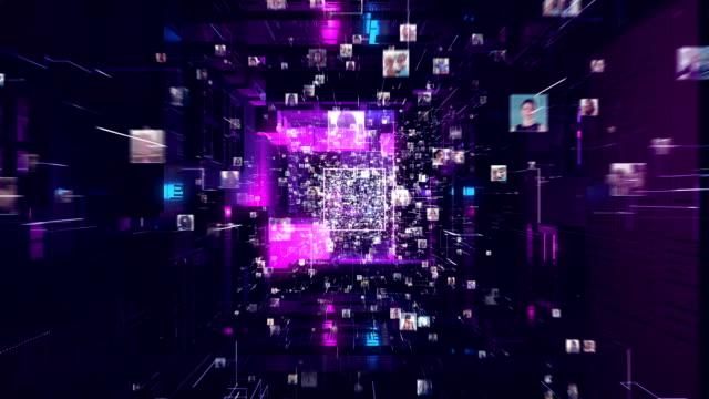 networking globale. connessioni di thread - navigare in internet video stock e b–roll