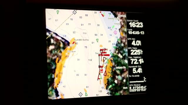global positioning system screen - map oceans bildbanksvideor och videomaterial från bakom kulisserna