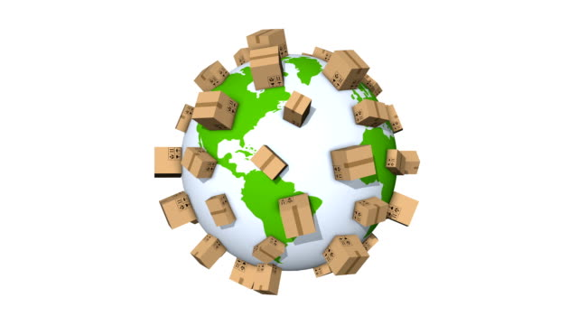 Global Shipment - Delivering Packages All Over The World video