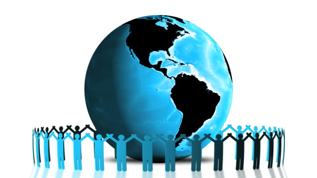 global social connection loop. - earth day stock videos & royalty-free footage