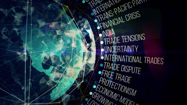 global trades crisis terms - democrazia video stock e b–roll