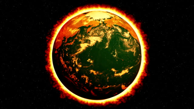 Global Warming Burning Earth video