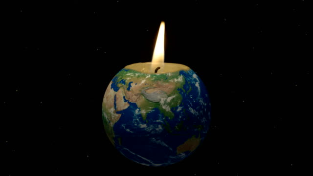 Global Warming – Earth as Candle 4K Loop video