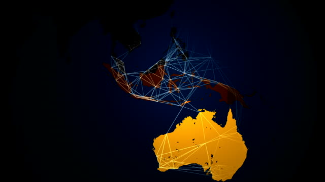 Global World Map Network Connections Communication loop. video