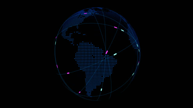 globe around connection lines - modalità wire frame video stock e b–roll