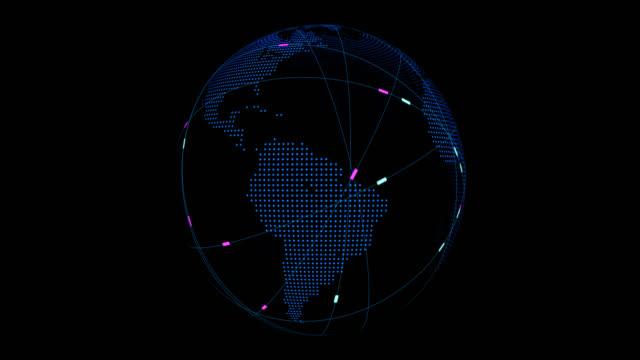 接続線の周りの世界 - 地球のビデオ点の映像素材/bロール