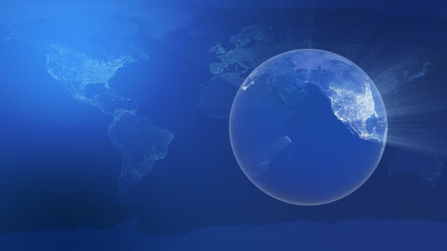 Globe city lights video