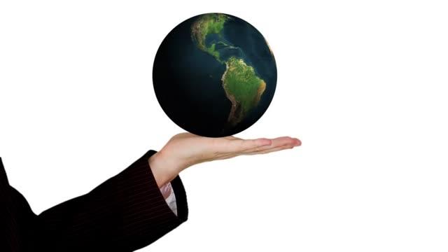 globe earth planet world hand