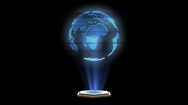 Globe Hologram video