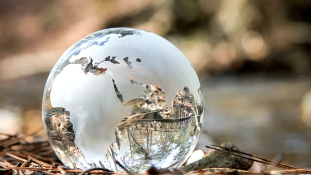 globe in water - glass world video stock e b–roll