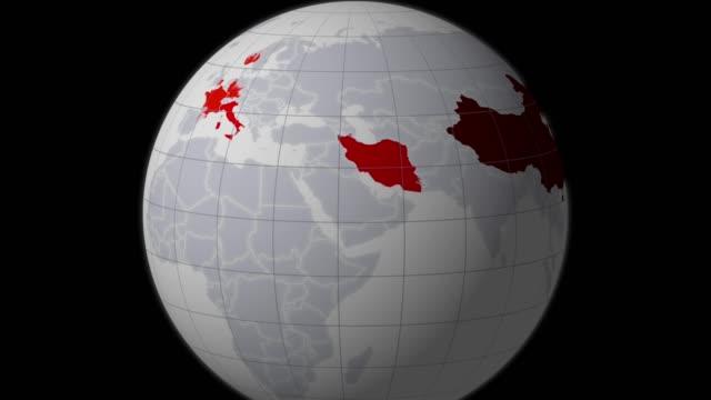 vídeos y material grabado en eventos de stock de globe map coronavirus wuhan - wuhan