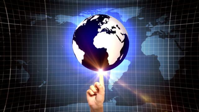 Globe on Forefinger (Loopable) video