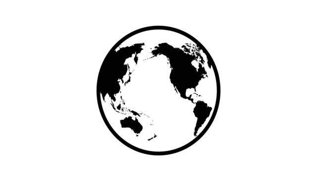 vídeos de stock e filmes b-roll de globe turning - green world