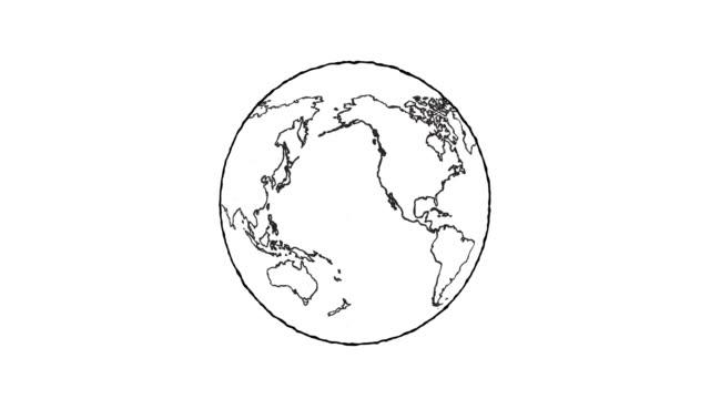 globe turning - набросок стоковые видео и кадры b-roll